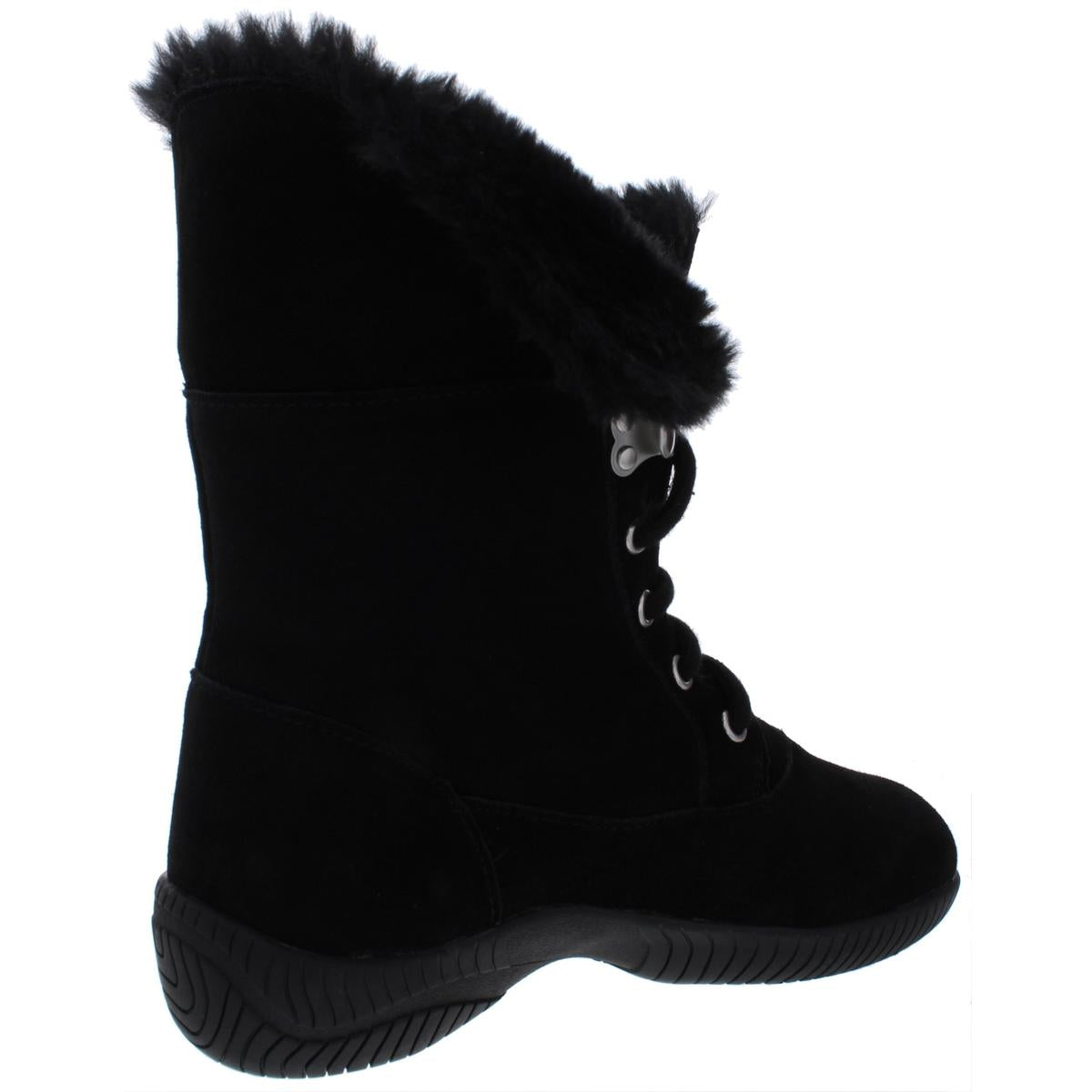 Style & Co. Womens Angiee Faux Fur Lace Up Booties