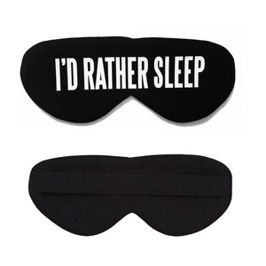 I'd Rather Sleep Cotton Lux Sleep Mask