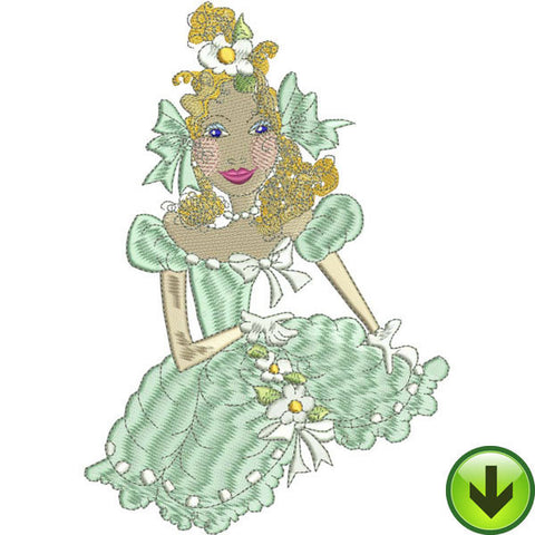 Belle Caroline Embroidery Design | DOWNLOAD