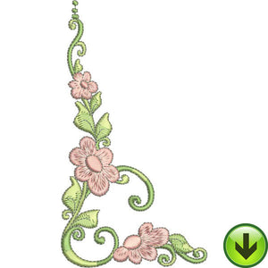 Lazy Daisy Scroll Embroidery Design | DOWNLOAD