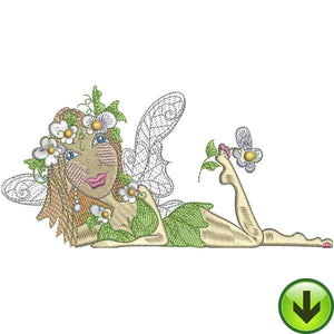 Lazy Fairy Embroidery Design | DOWNLOAD