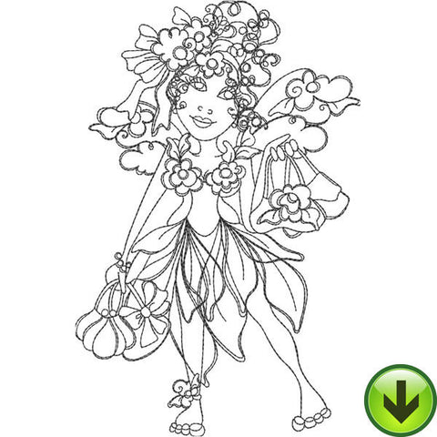 Purse Fairy Embroidery Design | DOWNLOAD
