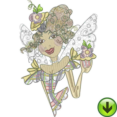 Cupcake Fairy Embroidery Design | DOWNLOAD