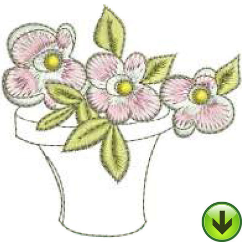 Pink Pot Machine Embroidery Design | Download