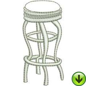 Stool Machine Embroidery Design | Download