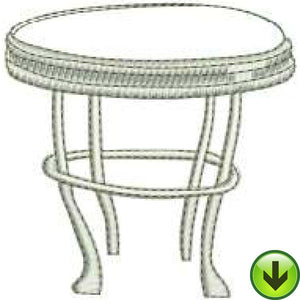 Table Machine Embroidery Design | Download