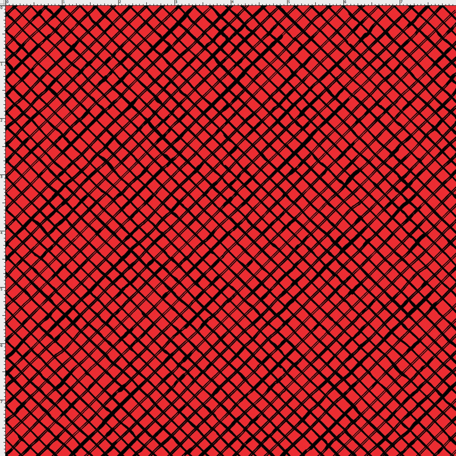 Trellis Red / Black Fabric