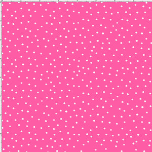 Dinky Dots Bright Pink / White Fabric