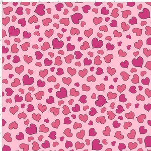 Mini Hearts Pink Fabric