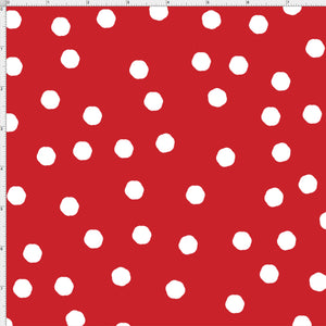 Jumbo Dots Red / White Fabric