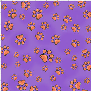Fun Paws Purple Fabric