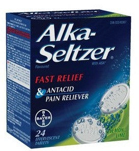 ALKA SELTZER LEM/LIME FLAVOURED 24'S - Queensborough Community Pharmacy