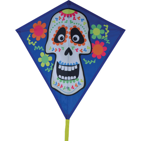 30 in. Diamond Kite - Sugar Skull