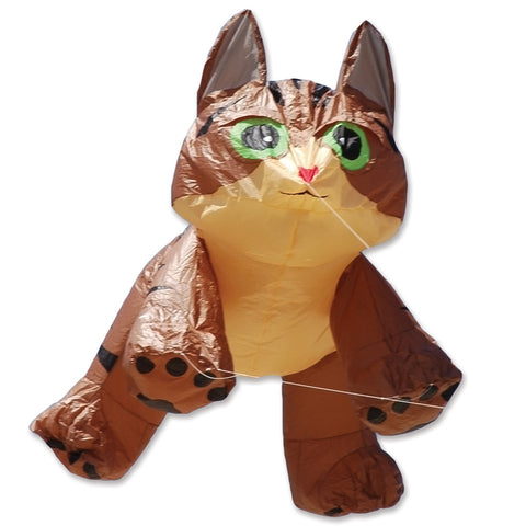 8 ft. Brown Tabby Kitten Line Device for Kites