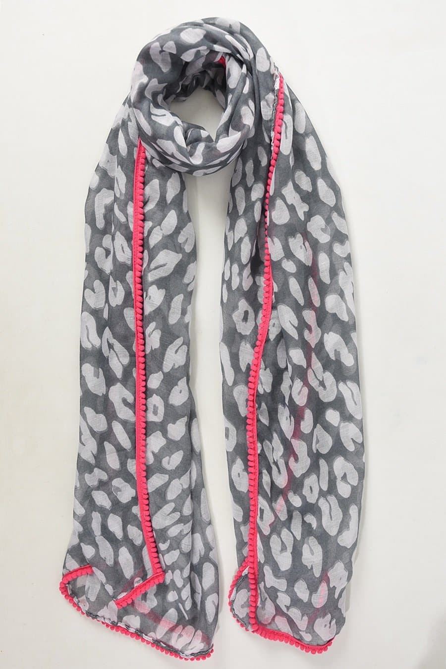 Abstract Animal and Neon Scarf