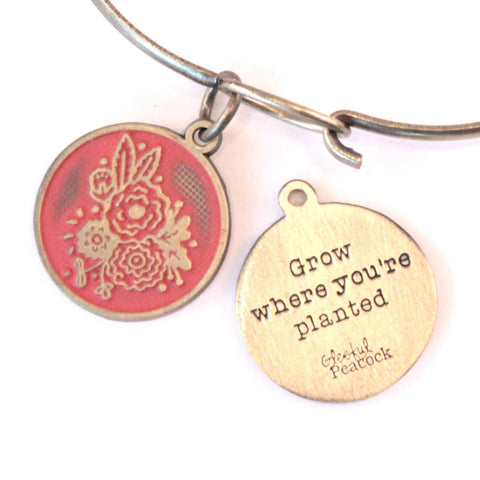 Grow Token Charm Bracelet or Necklace