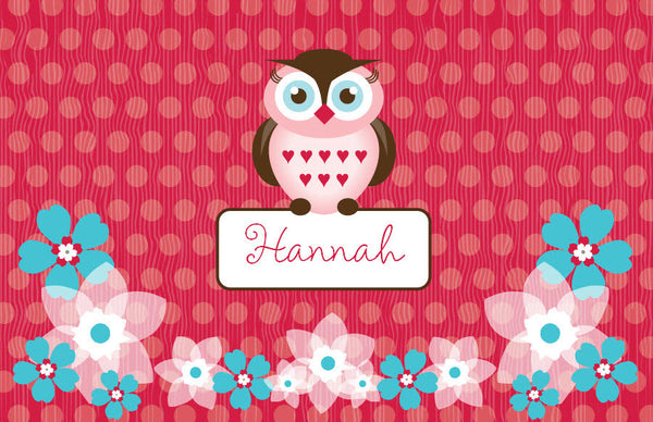 Owl Friends Placemat - frecklebox