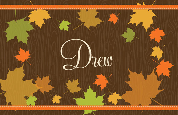 Fall Leaves Placemat - frecklebox