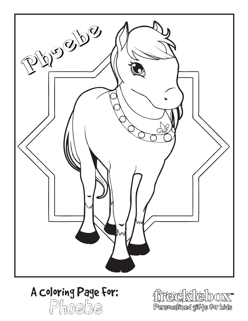 Princess Pony Coloring Page