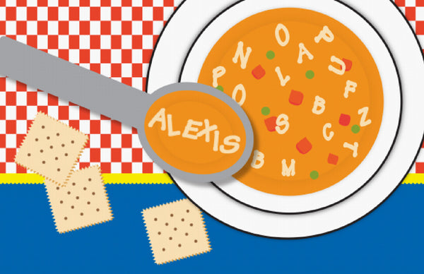 Alphabet Soup Placemat - frecklebox