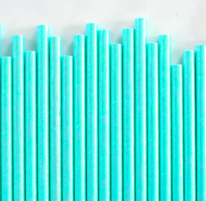 Iridescent Aqua Papers Straws | www.bakerspartyshop.com