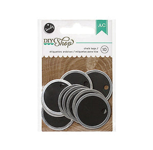 Silver Edge Round Chalkboard Gift Tags | www.bakerspartyshop.com