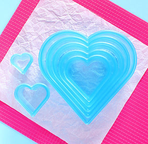 Ateco Heart Cookie Cutter Set | www.bakerspartyshop.com