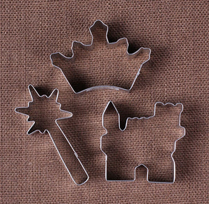 Princess Party Cookie Cutters: Castle, Wand & Crown | www.bakerspartyshop.com