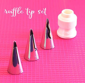 Ateco Ruffle Frosting Tip Set: 4 Piece | www.bakerspartyshop.com