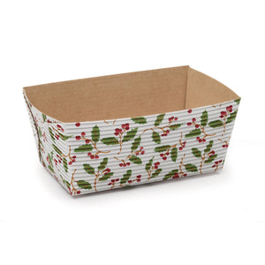 Small Christmas Loaf Pans: Holly | www.bakerspartyshop.com