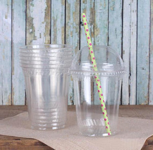 Clear Plastic Cups with Lids: 12oz | www.bakerspartyshop.com