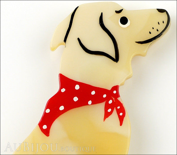 Marie-Christine Pavone Brooch Dog Labrador Beige Galalith Gallery