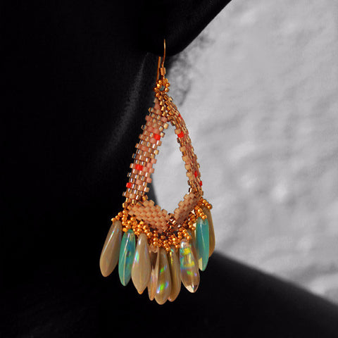 Ethereal Chandelier Beaded Earrings