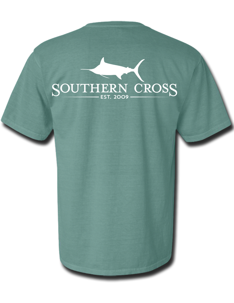 SCA Logo Light Green Short Sleeve Small, T-Shirts - Southern Cross Apparel
