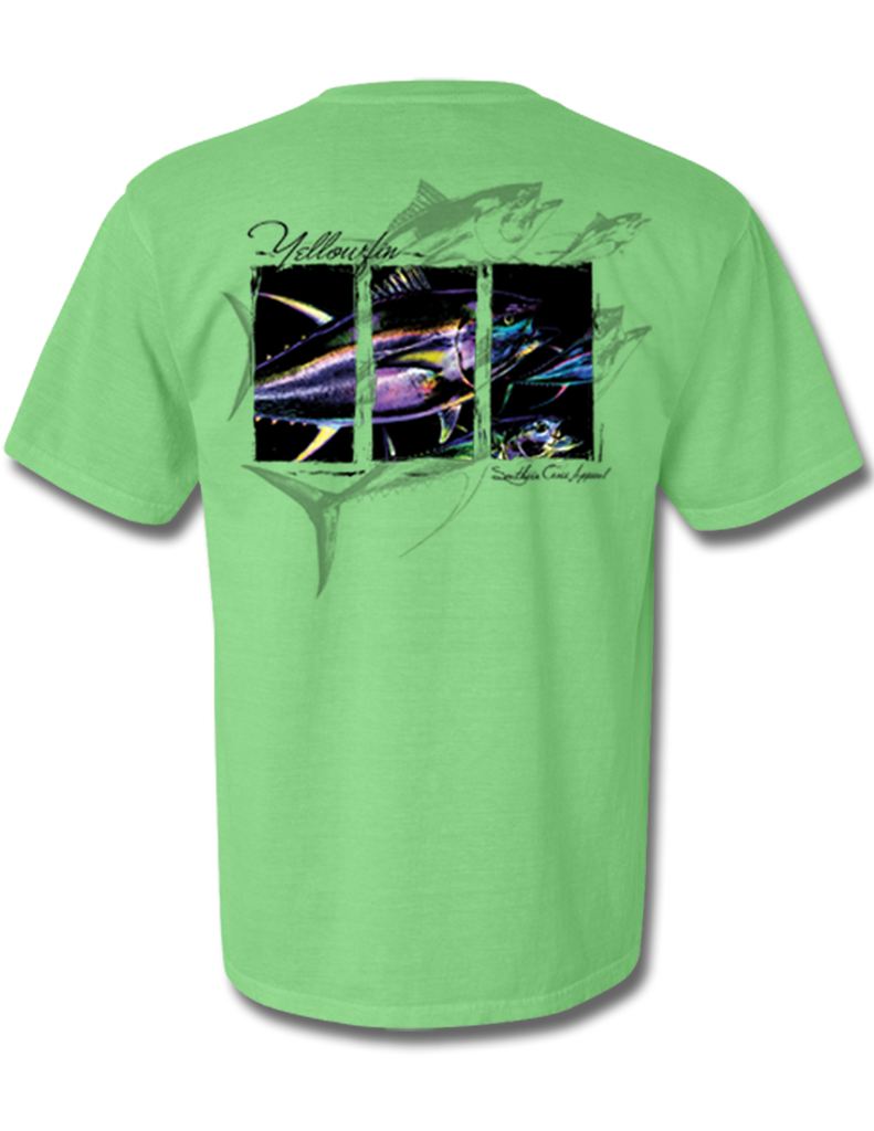 Yellowfin Short Sleeve Neon Green Small, T-Shirts - Southern Cross Apparel