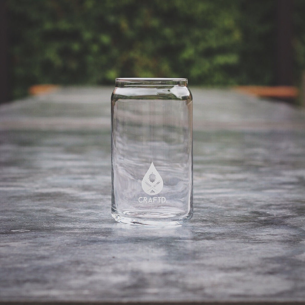 CRAFTD. Uncle Frank, craft beer glass can, perfect for home beer brewer, pale ale, IPA, session beer, perfect all round beer glass