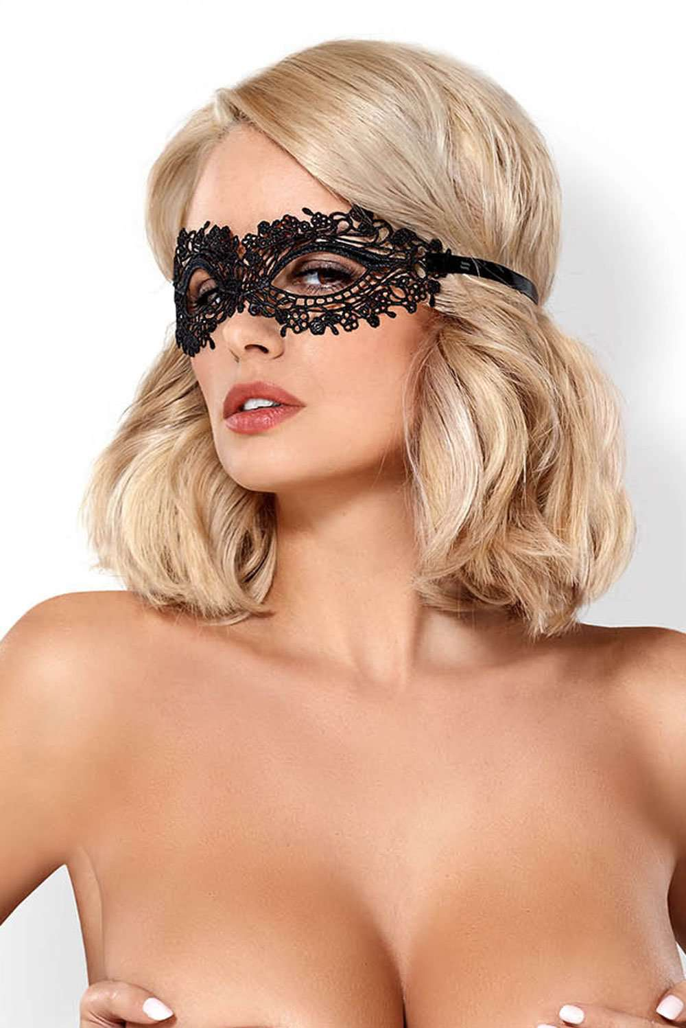 Obsessive Lace Eye Mask With Tie Back