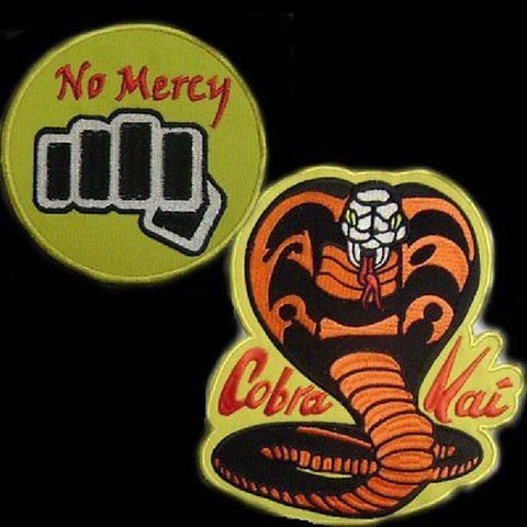Cobra Kai No Mercy Patch Set from Karate Kid - BlackBeltShop