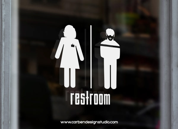 HANNIBAL & CLARICE RESTROOM DECAL