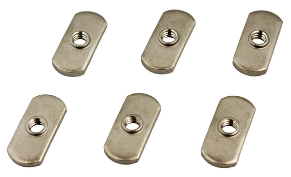 1/4-20 Track Nut, 6 Pack  Hardware & Small Parts YakAttack - Hook 1 Outfitters/Kayak Fishing Gear