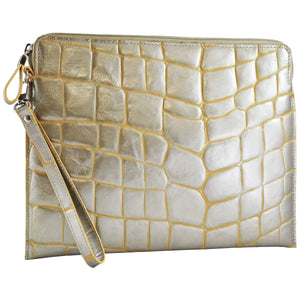 Tablet Sleeve/Wristlet - Silver Jazz