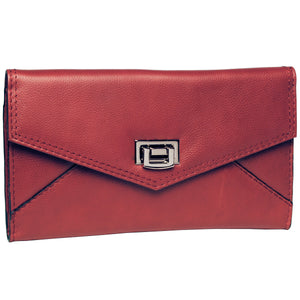 Alicia Klein leather clutch, red