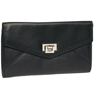 Alicia Klein leather clutch, black