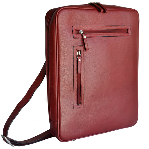 Vertical Slim Laptop Brief - Red