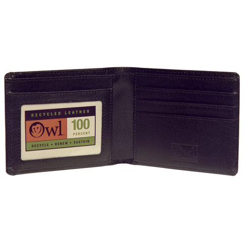 OWLrecycled Billfold - Black