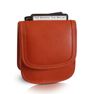 """Tangelo"" Taxi Wallet.  Italian Leather.  Minimalist.  Folding Wallet for Cards, Coins and Bills."