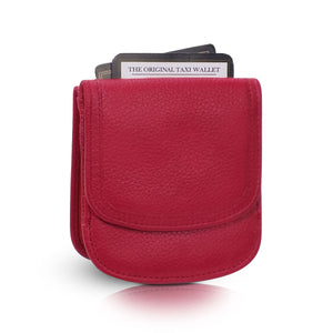 """Peony Pink"" Taxi Wallet.  Italian Leather.  Minimalist.  Folding Wallet for Cards, Coins and Bills."