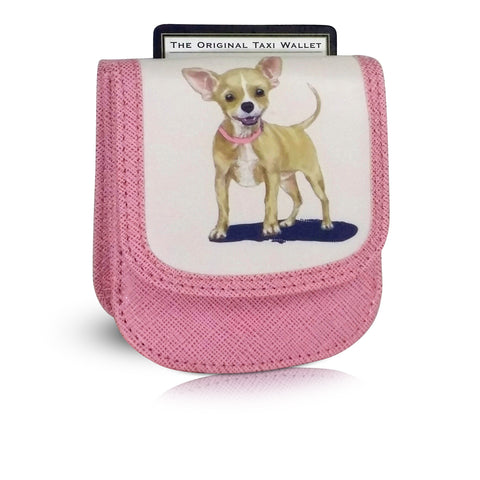 CHIHUAHUA Small Folding RFID Minimalist Card Wallet by TAXI WALLET® for Women Coin Purse