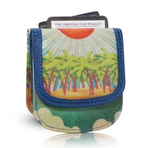 HAWAII ISLAND SUN - Small Folding Minimalist Card Wallet for Women Coin Purse by TAXI WALLET®