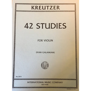 Kreutzer 42 Studies for Violin
